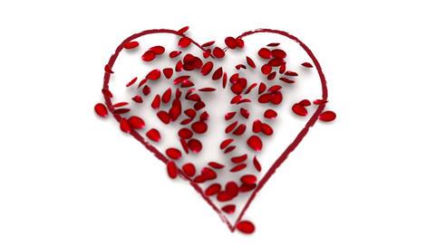 Heart of petals Stock Video Footage