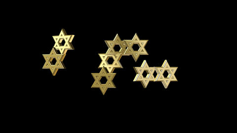 Animations Jewish Stars stock footage