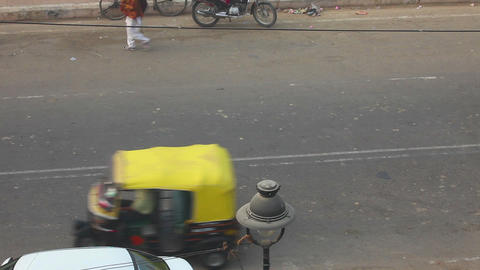 Street in Agra Footage