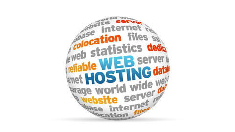 Web Hosting Word Sphere Animation