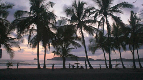 costa rica sunset Footage