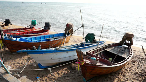 Traditional Fishing Boats stock footage