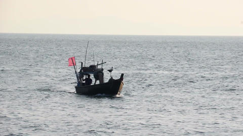 Traditional Asian Fishing Boat ビデオ
