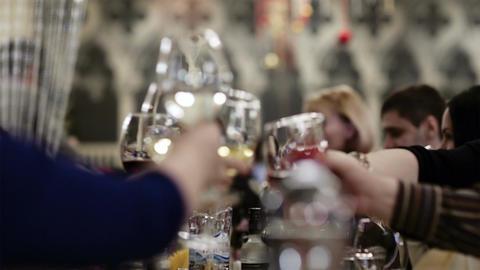 Toasting during celebration Footage