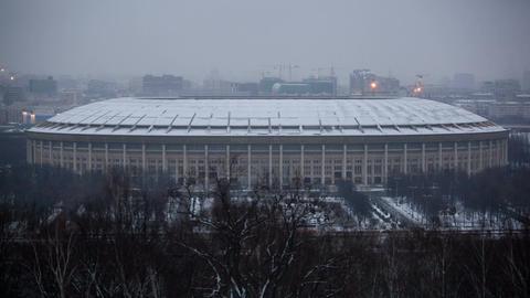 Luzhniki Stadium in Moscow Footage