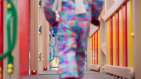 Children on playground equipment Footage