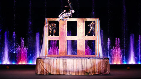 Acrobatic performance in circus Footage