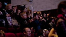 People applauding in the theatre Footage