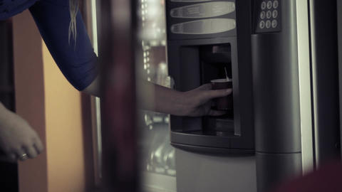 Coffee vending machine Footage