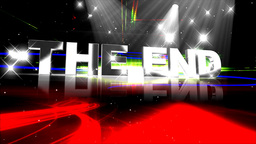 THE END Film, Video, Movie stock footage