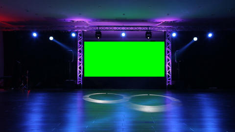 Stage Screen 02 stock footage