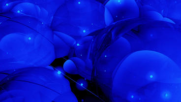 Abstract blue bubble & blister art background Animation