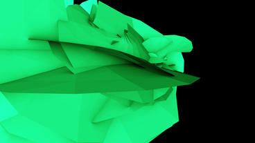 Abstract high tech green geometry deformation,patch silicon debris background Animation