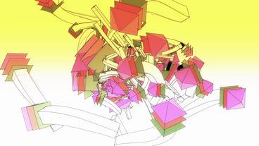 Abstract arrow collision flying art background,Cartoon toys&Fairy tale Sci-f Animation