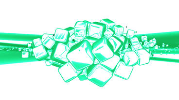 Cube box Data processing,glass metal transport in virtual space,Abstract backgro Animation