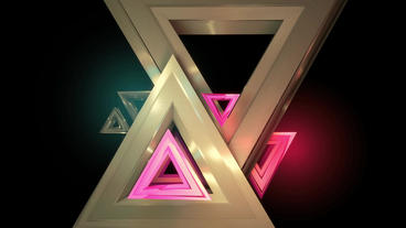 Triangle geometric Data processing,geometry in virtual space,Abstract background Animation