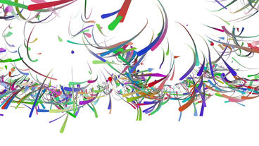 Color dynamic colored ribbon lines & Abstract Art such as fireworks pattern Animation
