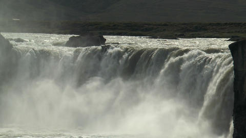 spectacular godafoss waterfall in iceland closeup Footage