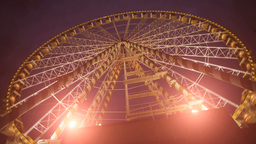 big wheel ferry. amusement park Footage