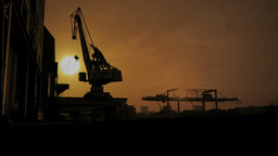 Day To Night. Industry Business. Sunset stock footage