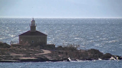 Stone lighthouse Footage
