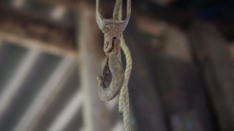 Old, Vintage Carabiner stock footage