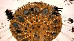 Roundabout Carousel. Amusement Park stock footage