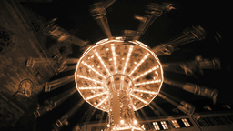 Fun Ride. Roundabout Carousel. Amusement stock footage