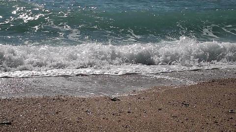 Waves near beach Footage