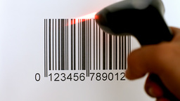 Barcode big print reading Footage