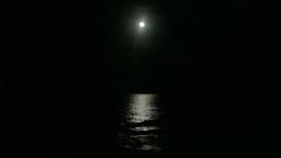 Moon sea night Footage