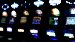 Slot machines videopoker angle view Footage