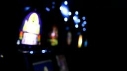 Slot machines videopoker bokeh left Footage