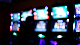 Slot machines videopoker silhouette playing Footage