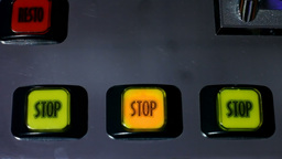 Slot machine videopoker stop button Footage