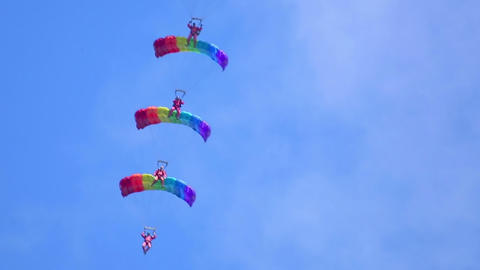 Paragliding Performance stock footage