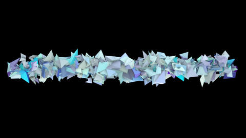 3d Abstract Blue Spiked Shape On Black stock footage