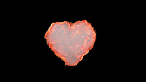 Explosion in heart shape Animation