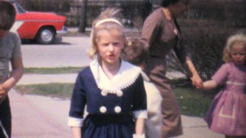 Dressed Up Kids Dancing In Driveway 1962 Vintage Footage