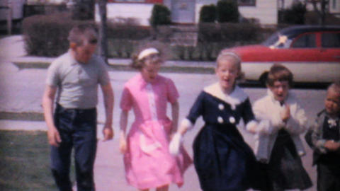 Girls And Boys Dancing In The Driveway 1962 8mm Footage
