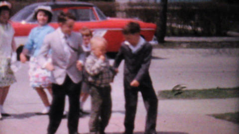 Kids Dancing Together In The Driveway 1962 Vintage Footage