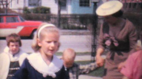 Kids Doing Special Dance Outside 1962 Vintage 8mm Footage