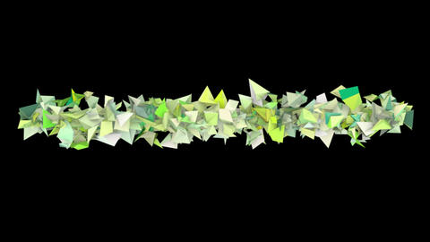 3d abstract green spiked shape on black Animation