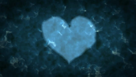 Heart Shape On Water Surface stock footage