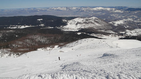 Bjelasnica mountain, Bosnia and Herzegovina Footage