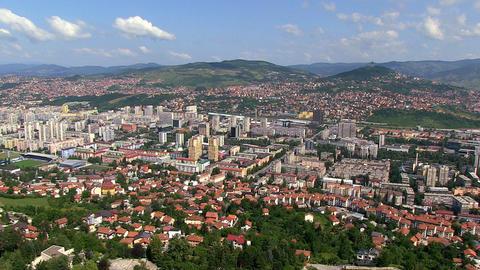 Aerial shot of Old Town; Sarajevo on June 11, 2013 Footage