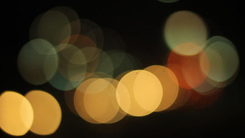 Street Lights Out Of Focus stock footage