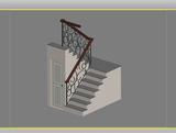 U-stair 3D Modell