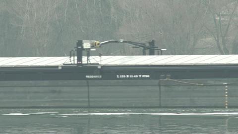 4K Barge on River Danube 1 Footage