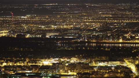 4K Budapest Aerial By Night Timelapse 2 stock footage